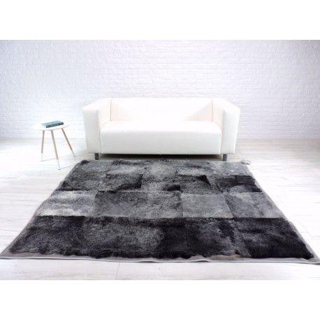 Amazing real Swedish sheepskin rug, grey