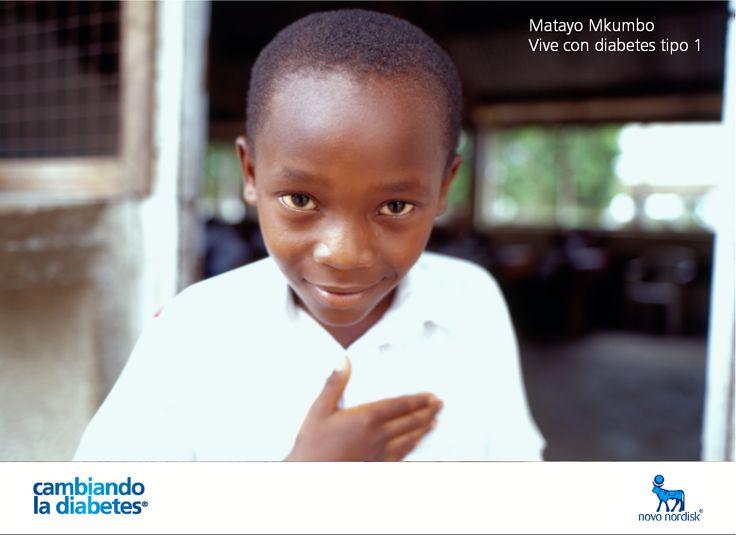 Matayo Mkumbo es un niño que vive con #diabetes #tipo1. Llevando un estilo de vida saludable y siguiendo de manera ordenada su tratamiento está #cambiandoladiabetes.