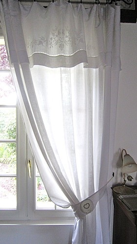 Sheer fabric for Tink's bedroom window ... ALSO our master bedroom doors.