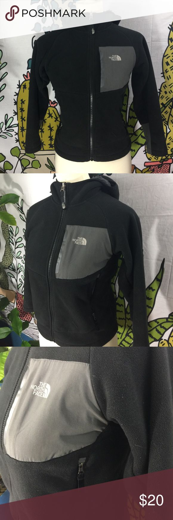 Kids North Face Zip Jacket Great condition, super warm jacket with faux shearling lining. All zippers work, no pills, no tears or other defects. These jackets last forever! The North Face Jackets & Coats