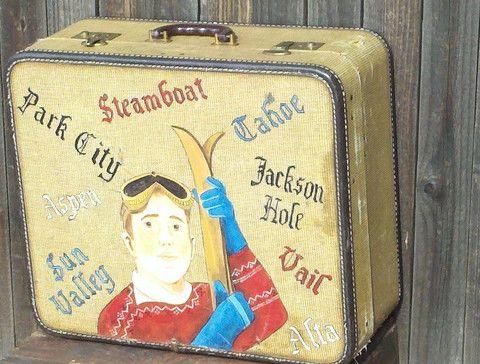 Skiers Luggage - Vintage Decor