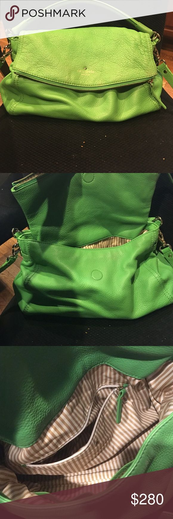 Kate spade bag SALE Kate Spade cobble hill Marsala. Mint condition. Green! Cross body with a secure zippered flap. kate spade Bags Shoulder Bags