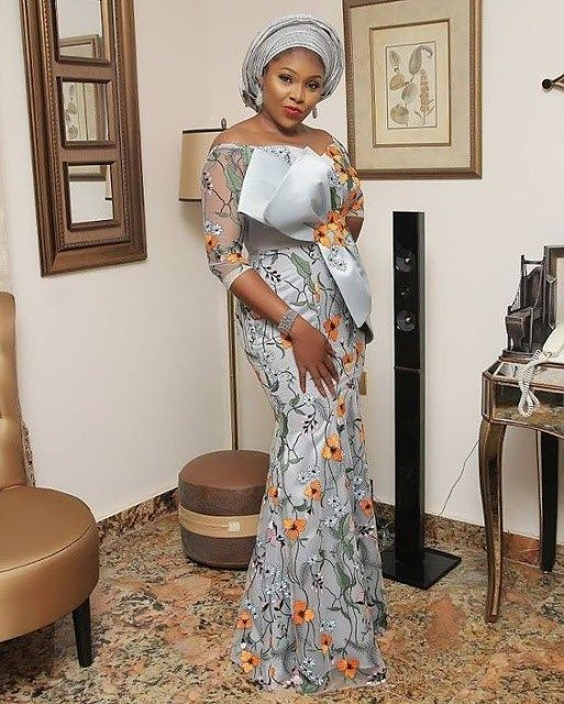 Cutest Asoebi Styles For Wedding Guest Lace Gown Styles Nigerian Lace Styles Lace Fashion