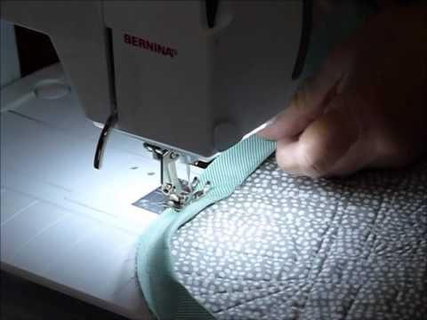 How to Stitch Bias Binding on to a Scallop Edged Quilt - Quilting Tips & Techniques 172 - YouTube