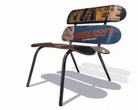 Skate Chair, Window-Metal Table + More: Reclaimed and Sustainable Furniture by 2Z : TreeHugger