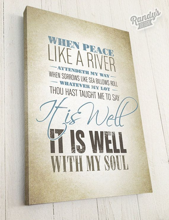 Christian hymn lyrics typography art on canvas it is for What kind of paint to use on kitchen cabinets for christian wall art with scripture