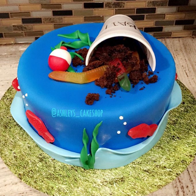 98 Best Fishing Birthday Theme Images On Pinterest: 25+ Best Ideas About Fishing Birthday Cakes On Pinterest