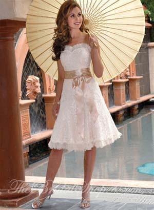 Trendy informal wedding dresses