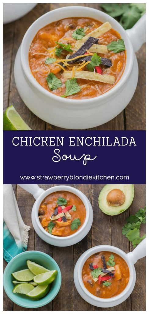 Start your back to school shopping this year at Walmart and make this delicious Chicken Enchilada Soup. On the table in less than 30 minutes!  Walmart has great deals on Campbell Soup Company products essentials, school supplies and everything you need to get yourself right on track. @walmart AD #CampbellsShortcutMeals | Strawberry Blondie Kitchen