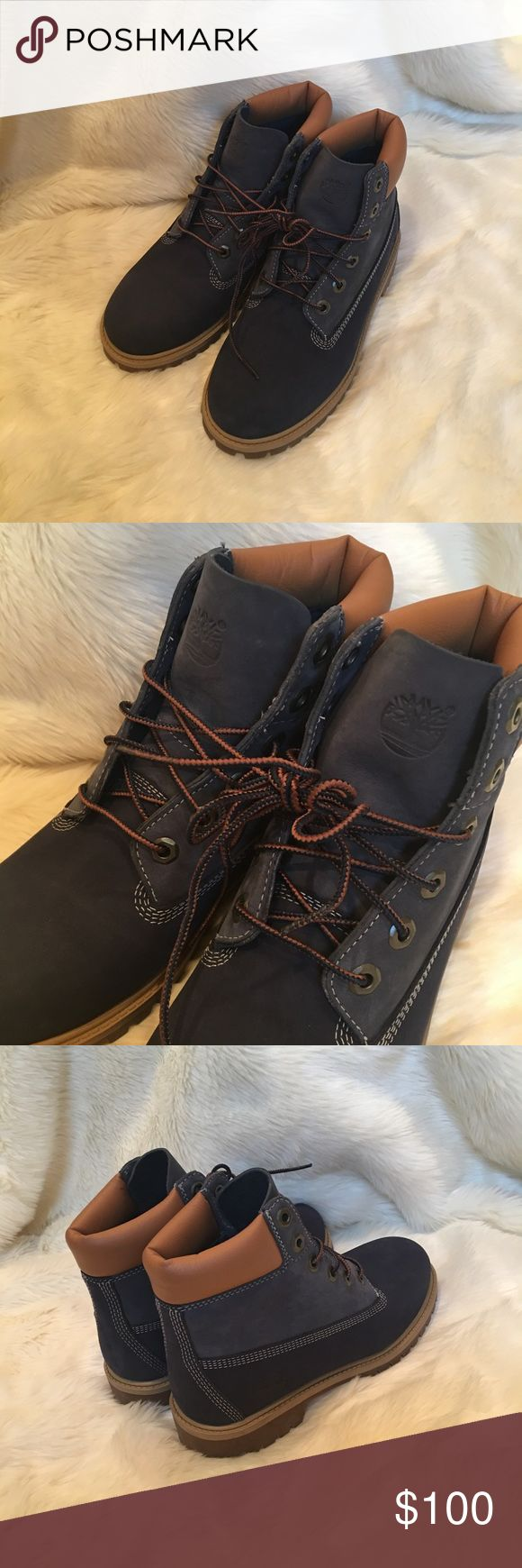 BLUE Timberland waterproof boots Men's size 5 fit like a women's 7, never worn in perfect condition! Timberland Shoes Boots