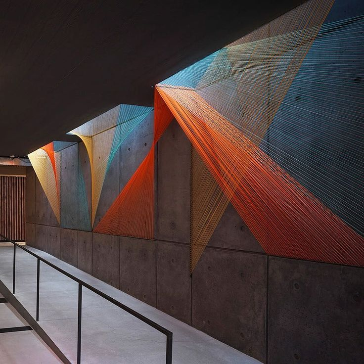 Love this colorful prism #installation by #InesEsnal in the lobby of a residential building in #NewYork! \\\ Photo by Cameron Neilson by designmilk