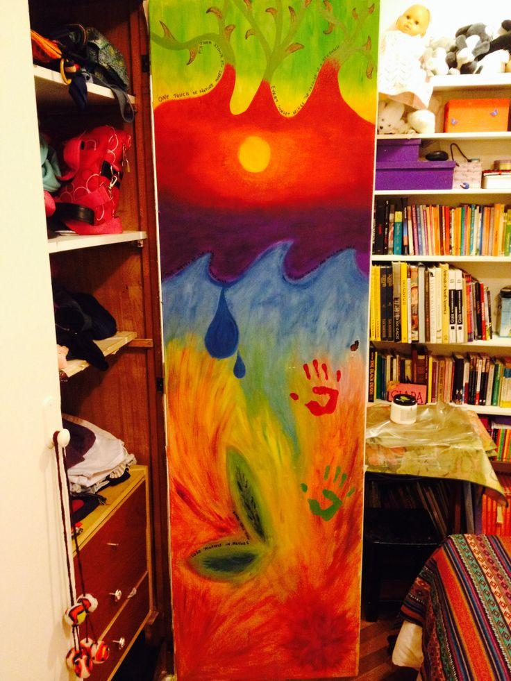 Mama, puedo pintar adentro del placard? #mishijasartistas