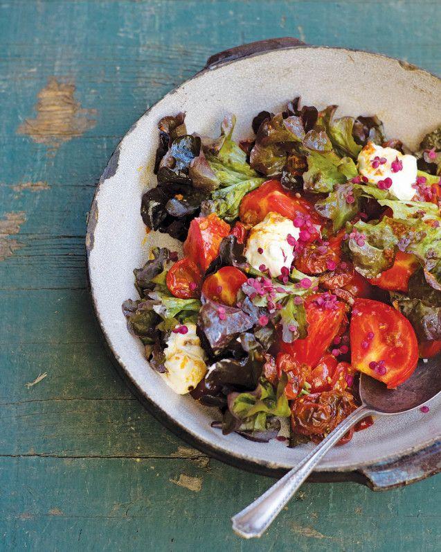The Perfect End-Of-Summer Salad: Roasted Tomato Caprese - mindbodygreen.com