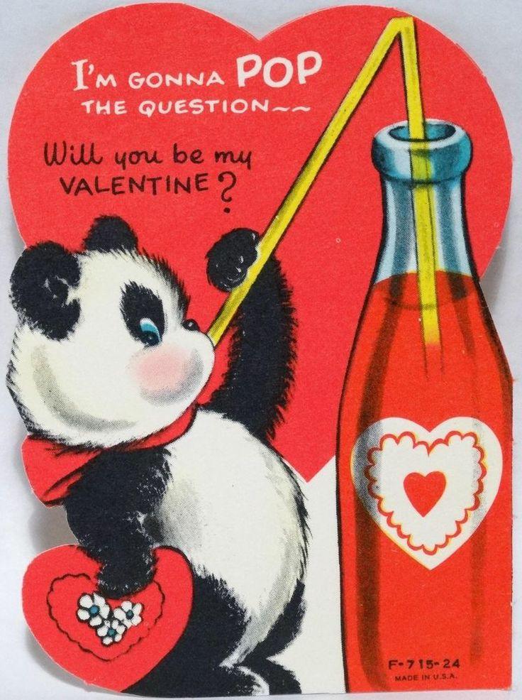 Vintage glitter valentine cards 50s