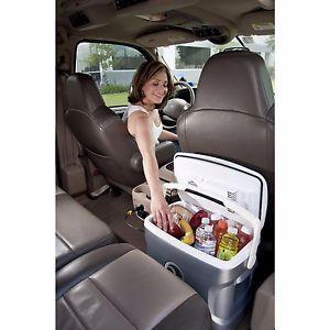 Portable Car Fridge Electric Travel Cooler Camping Compact Mini Chest 12V 26 Qt