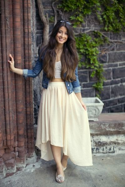 A high-low skirt: http://www.stylemepretty.com/living/2013/10/29/best-dressed-blogger-mimi-ikonn/ | Photography: Mimi Ikonn - http://www.mimiikonn.com/