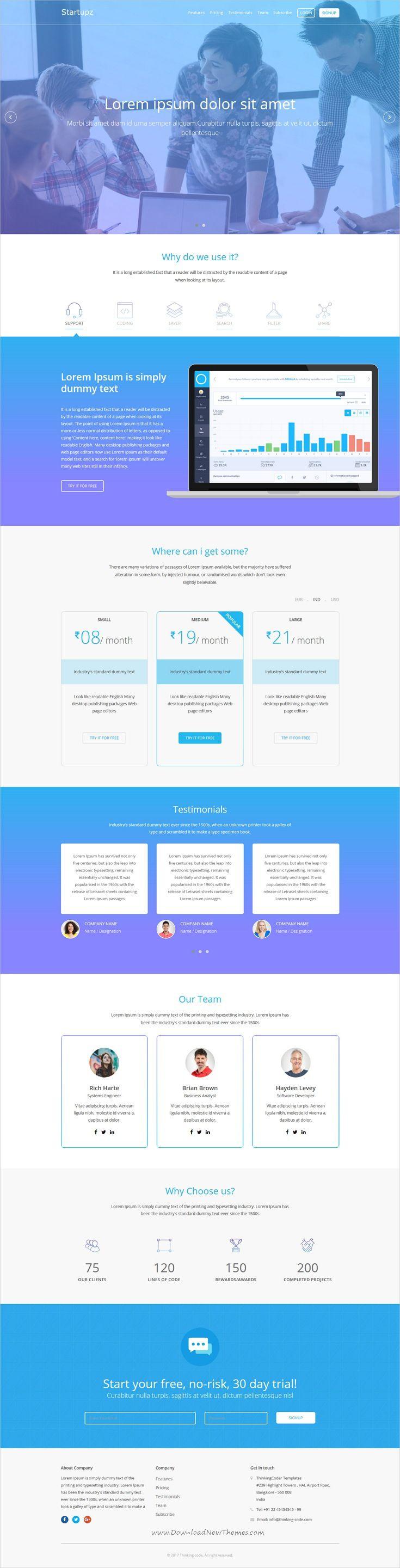 Startupz - App/SAAS Landing Page Template   Startups