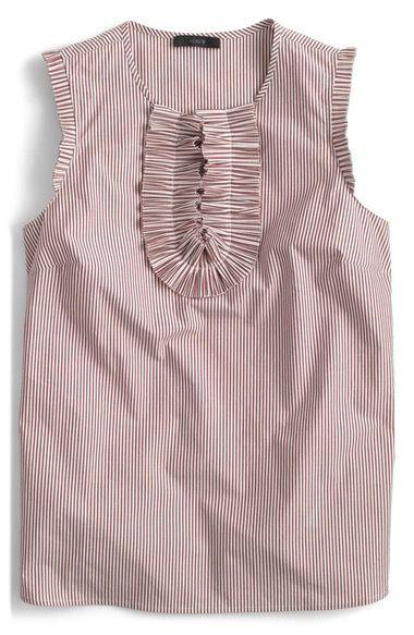 J.CREW Margot Stripe Cotton Top (Regular & Petite). #j.crew #cloth #