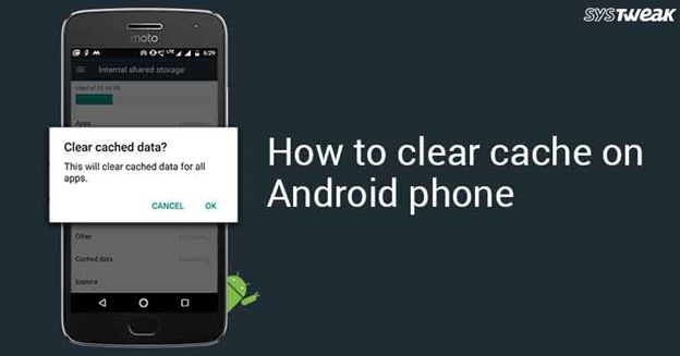 how to clear cache on phone