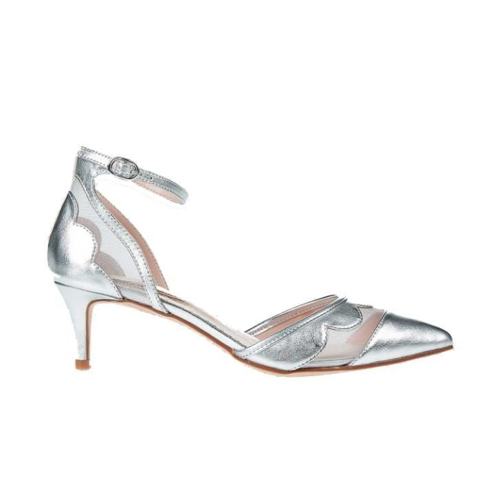 Kitten heel ankle strap court shoes, £35, Marks & Spencer