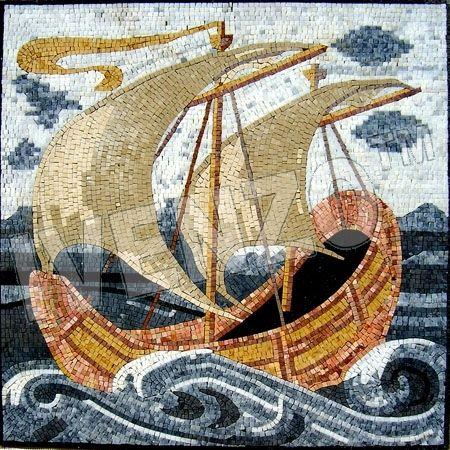 Mosaik GE121 Schiff Zweimaster