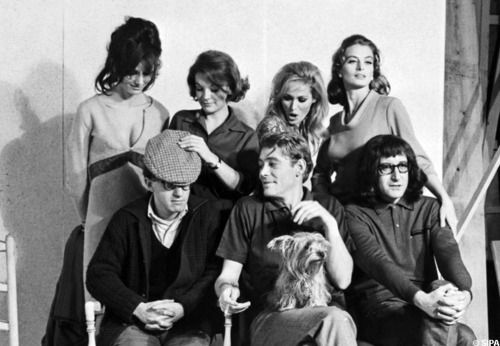 What's New Pussycat? (1965)  Director:  Clive Donner  Writer:  Woody Allen (original screenplay)  Cast: Peter Sellers  as Dr. Fritz Fassbender  Peter O'Toole  as Michael James  Romy Schneider  as Carole Werner  Capucine  as Renée Lefebvre  Paula Prentiss  as Liz Bien  Woody Allen  as Victor Shakapopulis  Ursula Andress  as Rita
