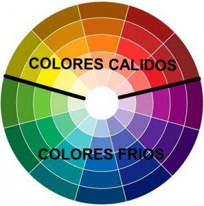 rueda de colores cálidos y fríos
