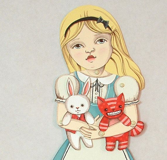 Alice in Wonderland DIY Articulated Paper by cartbeforethehorse, $12.00