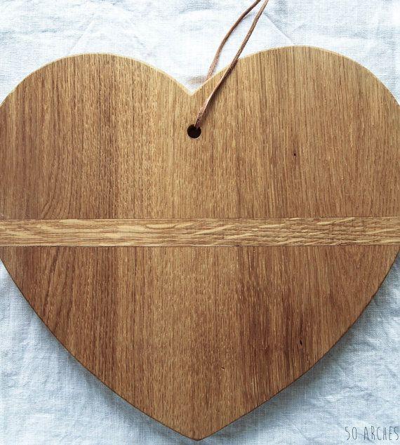 M heart breadboard, wooden heart, oak hardwood, serving board, chopping board, cheese board, wooden decoration, Valentine gift