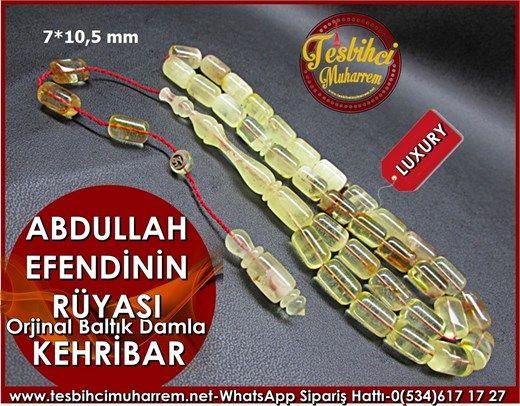 Özel İşçilik Orjinal Baltık Damla Kehribar Tesbih 7*10,5 mm Abdullah Efendinin RüyasıÜrün Kodu: TM7539