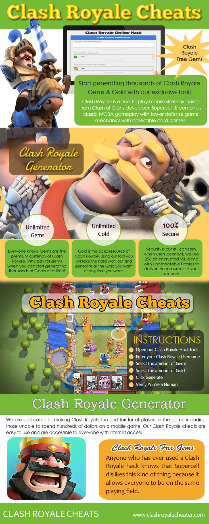 Visit this site http://www.apsense.com/brand/clashroyalecheater for more information on Clash royale cheats. Many traditional board games are now being played online, and many people want the skills necessary to win. Clash royale cheats will give you a much better chance at winning, even if you are faced with strong competition. Having access to game cheats will allow you to enter any room you choose and beat your opponents.  Follow Us: http://uid.me/clashroyale_cheats