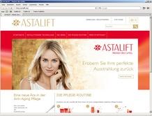 Die neue Kosmetiklinie startet ihren Online-Shop in Deutschland (www.astalift.de)