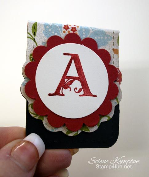 Stamp 4 Fun with Selene Kempton ~ Stampin' Up! Independent Demonstrator: Simple Magnetic Bookmark Tutorial