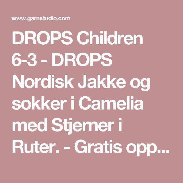 DROPS Children 6-3 - DROPS Nordisk Jakke og sokker i Camelia med Stjerner i Ruter. - Gratis oppskrifter fra DROPS Design