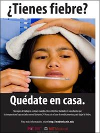 flu poster - fever - spanish