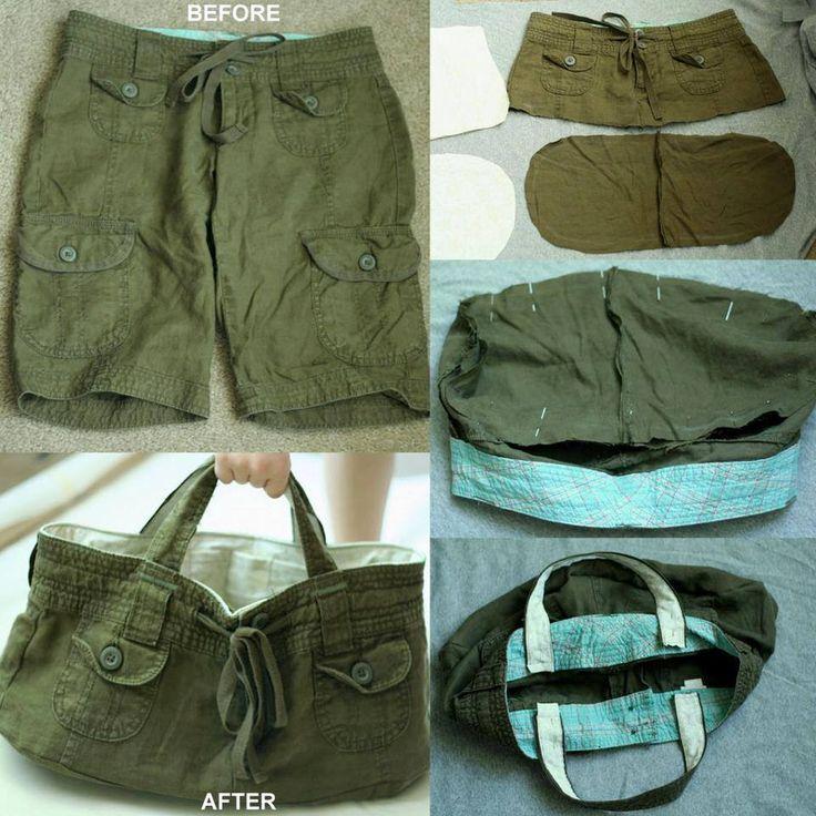 Transformer un vieux short, jean, pantacourt en un sac original