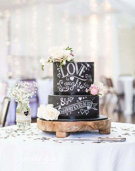 Chalkboard Cake by www.blackbirdcakes.com.au