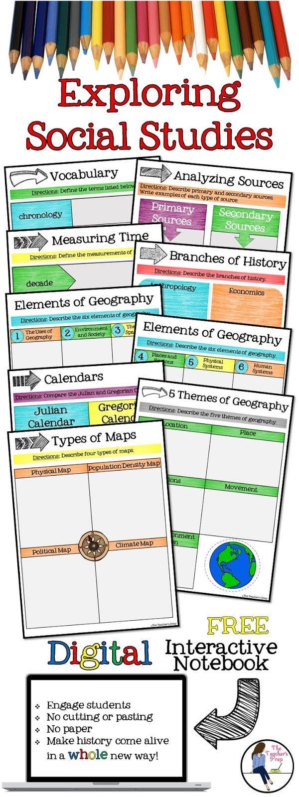 The Teacher's Prep: Digital Interactive Notebooks in the Social Studies Clas…