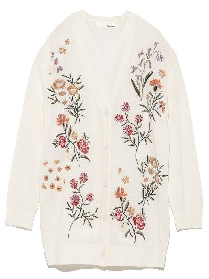 刺繍ニットカーディガン(カーディガン)|Lily Brown(リリーブラウン)|ファッション通販|ウサギオンライン公式通販サイト