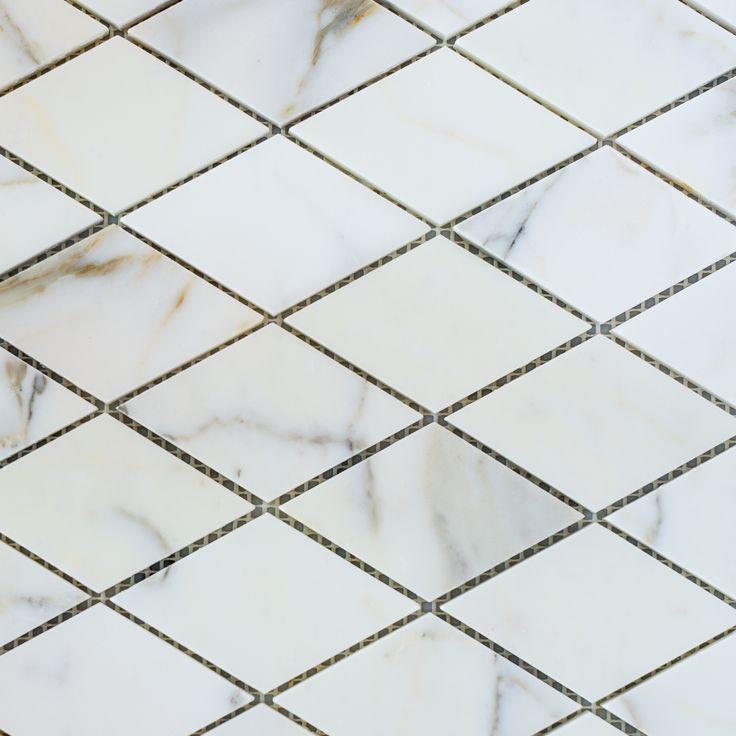 Designer Marble | Calacatta Gold Diamond Mosaic