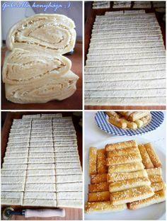 Gabriella kalandjai a konyhában :): Sajtos leveles sütemény - avagy sajtos rúd