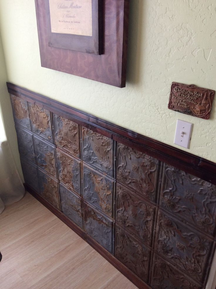 My vintage tin wall and mounding.
