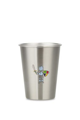 NEW LOOK KNIGHT from ecococoon 350ml illustrated stainless steel cup RRP $10.95