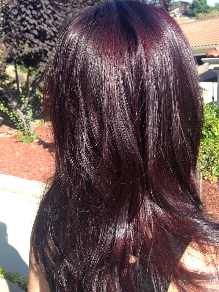 Custom merlot hair color for my client! #redken #cosmocassbeauty | By ...