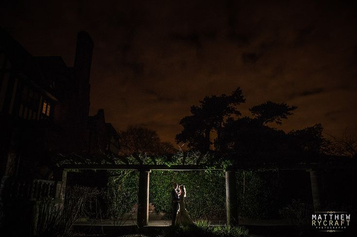 Inglewood Manor, Bride and Groom Flash Backlit, Speedlight, Wedding, Photography, Love, Night, Night time