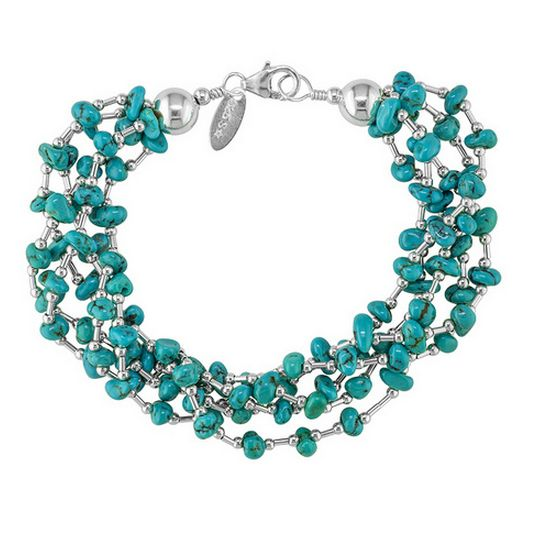 Jtv Necklaces: Southwest Style By JTV Free Form Turquoise Nugget Sterling
