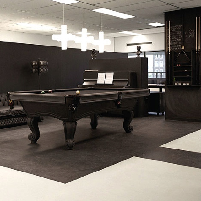 Attractive Upcycled Vintage Furniture Billiards Room   Lighting Idea Over Pool Table