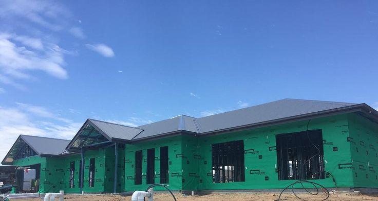 Roof done, come on bricks! #progress #excited #basalt #colourbond