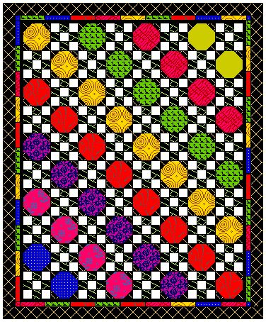 Snowball Quilt Block - alone or with other blocks for great quilts