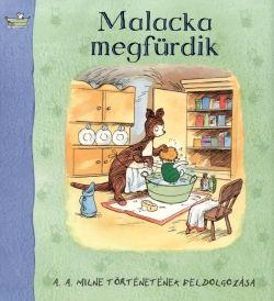 Malacka megfürdik, gyermek- és ifjúsági könyvek, A. A. Milne nyomán, könyvrendelés, olcsó könyvek, könyvesbolt